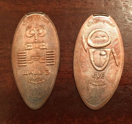 Pressed Pennies - Eve and Wall-E