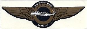 Walt Disney World Monorail Co-Pilot Sticker