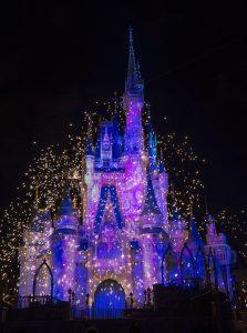 "alt=""cinderella castle at night"""