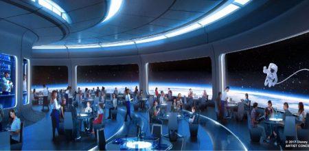 Epcot Changes Space themed restaurant concept art - copyright Disney