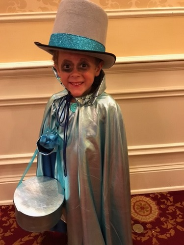Hat Box Ghost Costume for Mickey's Not-So-Scary Halloween party