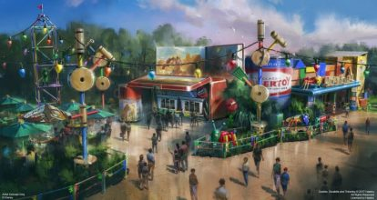 Woody's Lunch Box in Toy Story Land - copyright Disney