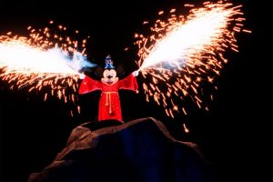 Fantasmic finale copyright Disney
