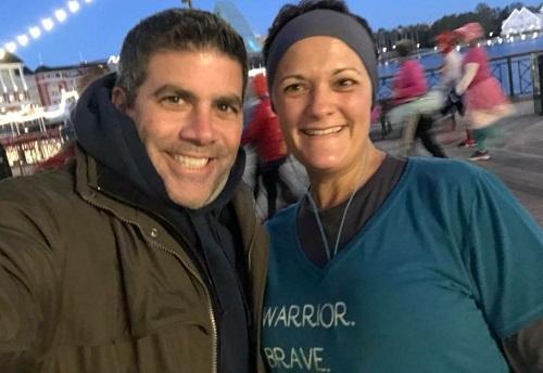 Meeting Lou on the marathon course
