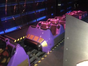 Hyperspace Mountain ride vehicles