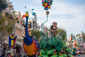 Up unit in Pixar Play Parade - copyright Disney