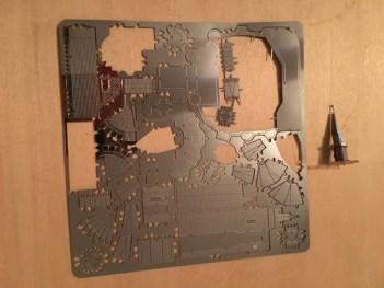 metal sheet from Cinderella Castle Metal Earth model