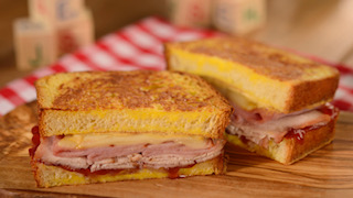 Monte Cristo Sandwich at Woody's Lunch Box - copyright Disney