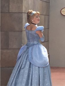Cinderella character in Epcot