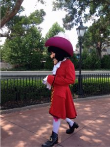 Captain Hook character in Epcot