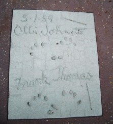 Ollie Johnston and Frank Thomas Magic of Disney Animation hand prints