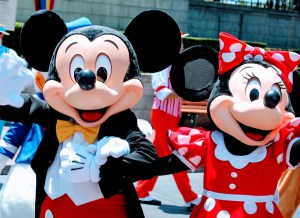 Mickey and Minnie in Disneyland