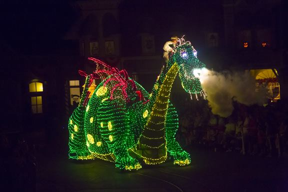 Pete's Dragon float in Main Street Electrical Parade