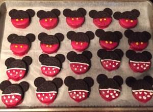 Mickey and Minnie Disney-themed treats
