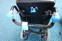 Securing a wheelchair for transport
