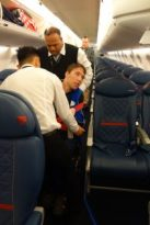 Wheeling in next to Andrew's seat