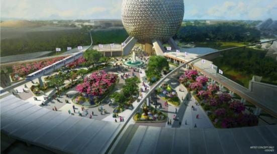Epcot Entrance Update, Concept Art, copyright Disney