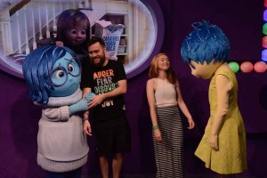 Joy and Sadness character meet and greet