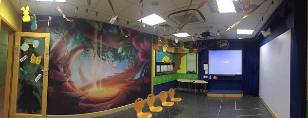Disney English classroom