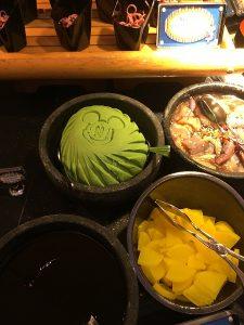 "alt=""A selection of food from the menu at Chef Mickey restaurant at the Hong Kong Disneyland Resort."""