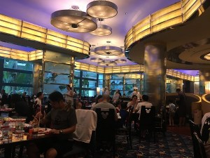 "alt=""The interior of Chef Mickey restaurant at the Hong Kong Disneyland Resort."""