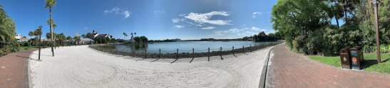 """alt=""""Panoramic view of the running trail at the Grand Floridian Resort."""""""