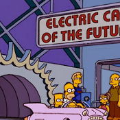 "alt=""Remembering the Simpson's trip to Epcot - Electric Car of the Future"""
