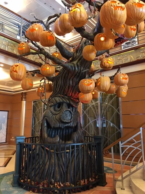 "alt=""The Pumpkin Tree on the Disney Magic cruise ship."""