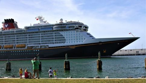 "alt=""The Disney Fantasy cruise ship at Port Canaveral."""