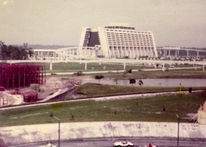 Image of Disney's Contemporary Resort in 1972