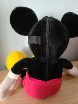 photo of the back of the original Pal Mickey plush