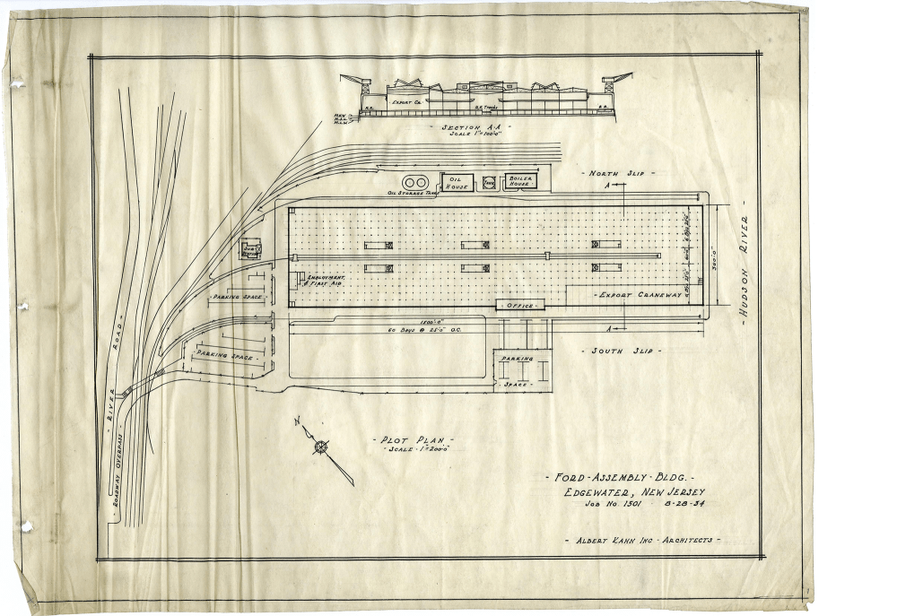 medium resolution of ford automotive assembly plant plan 2 in 1934 bentley historical library and albert kahn associates