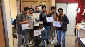 Our Omani group celebrate passing their course in early 2017