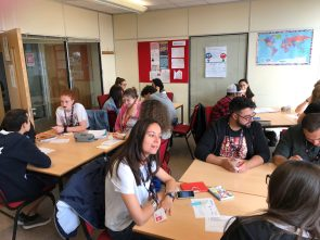 ETS students join WE Bridge Academy students in 2017