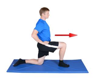 Person doing Iliopsoas Stretch