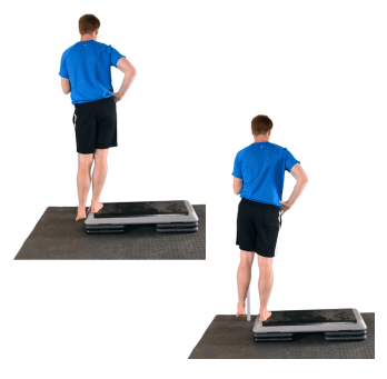 person doing Hip Hike/ Step