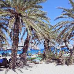 Beach Chairs And Umbrellas Pictures Office Chair Accessories Vai Crete - The Only Palm Forest In Europe, A Stunning