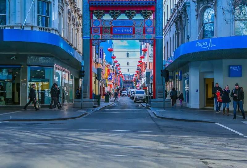 chinatown melbourne australie