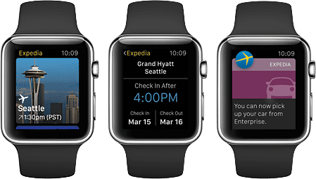 app watch experience expedia