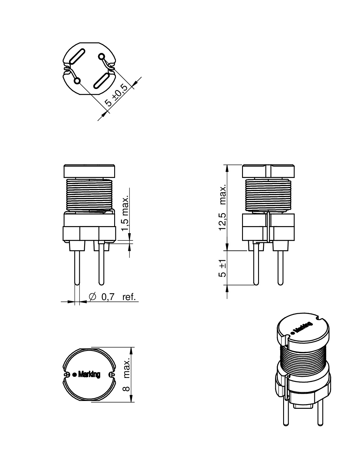 We Ti Radial Leaded Wire Wound Inductor
