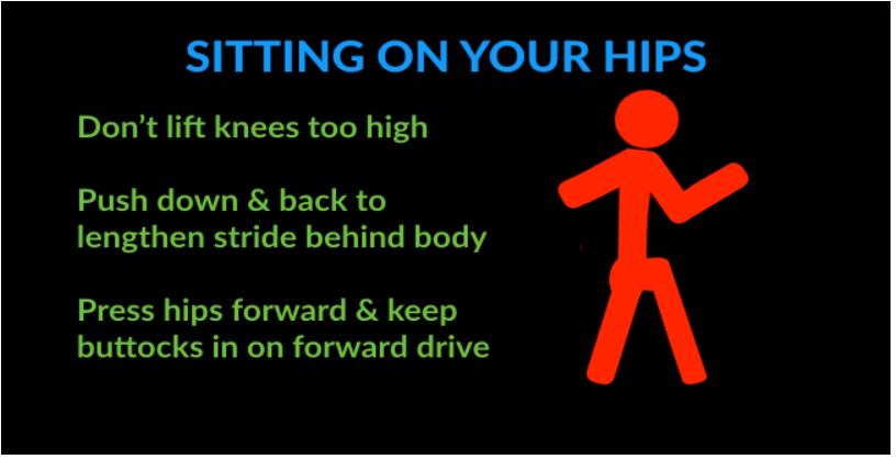 running technique mistakes - sitting back on the hips