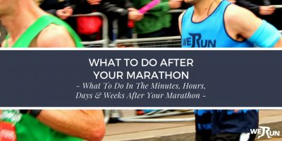 what to do after a marathon - marathon recovery advice