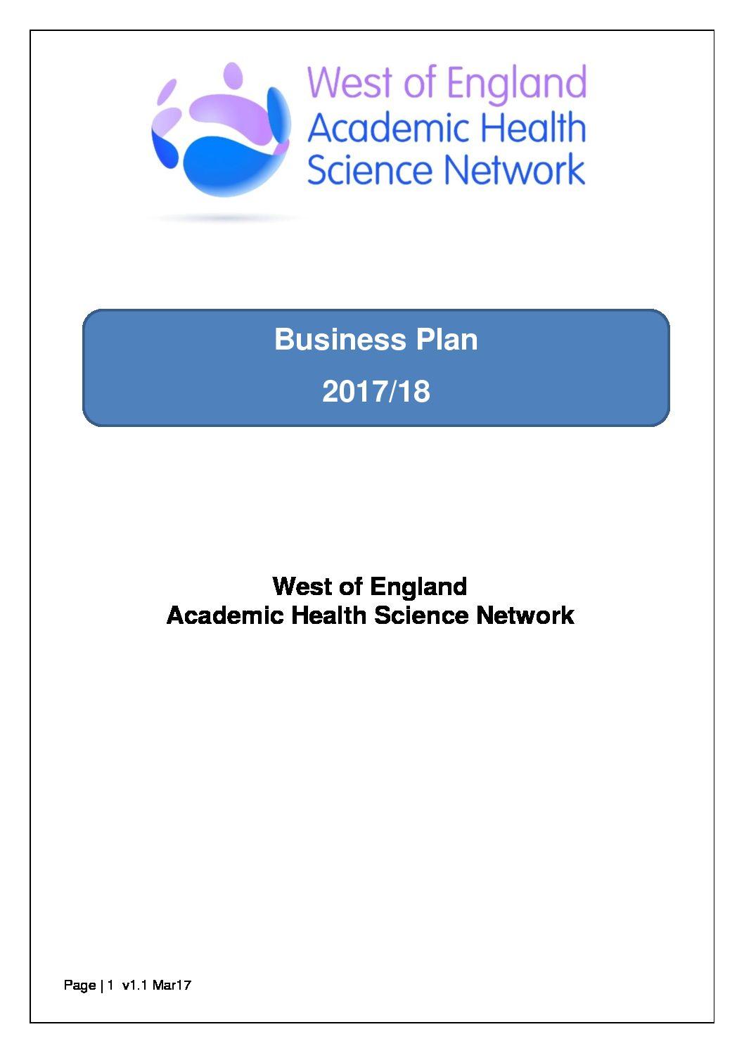 ahsn business plan