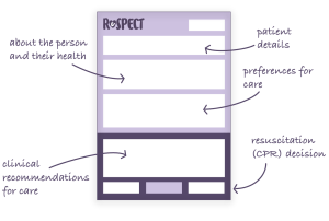 Image of a ReSPECT form