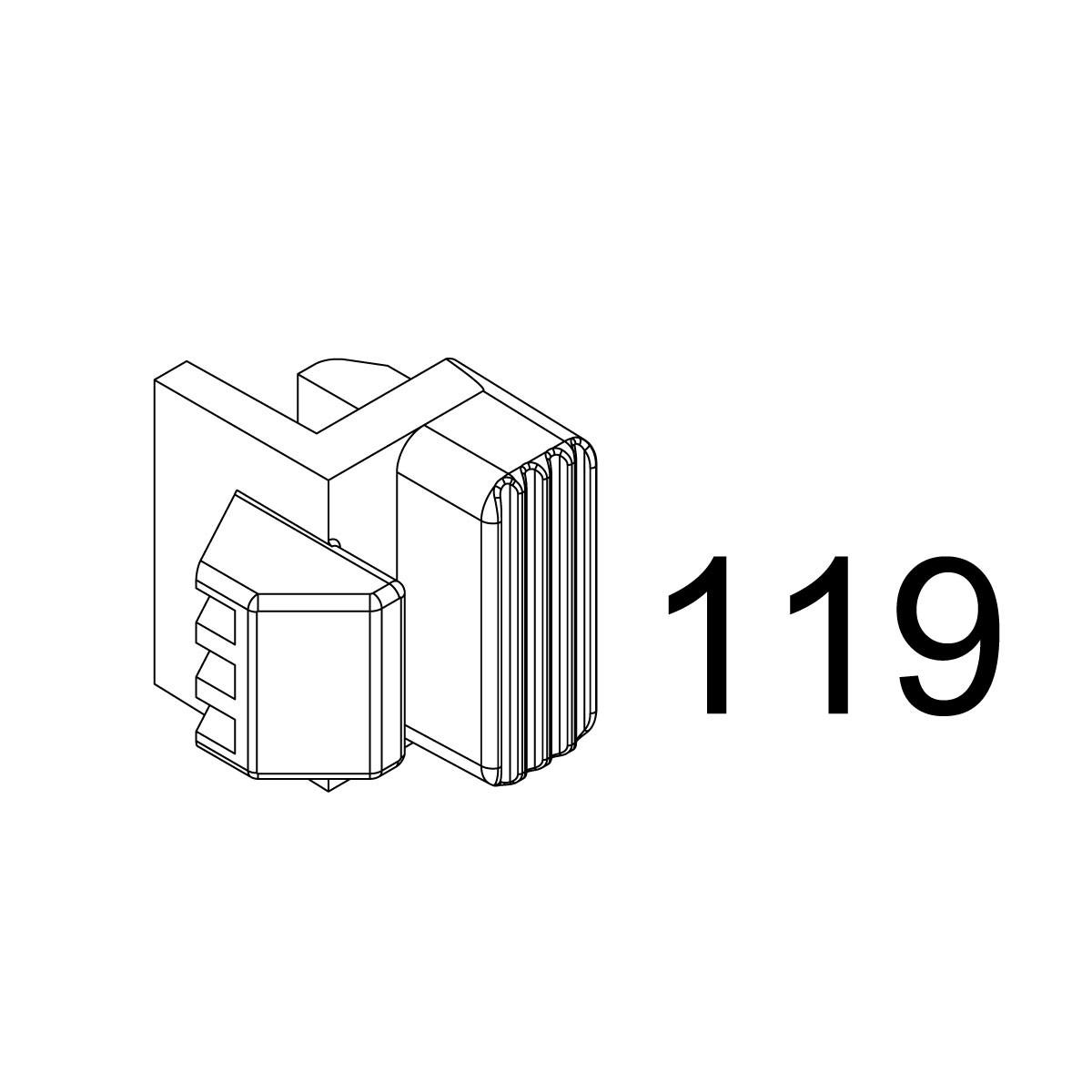 WE MSK GBBR Part 119 Adjustable Stock Positioning Piece