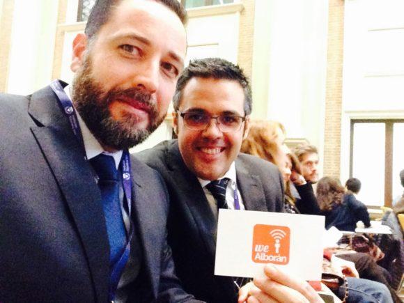 Los coordinadores de WeAlborán en el II Simposium Felipe Segovia