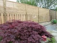 Contemporary fence - Japanese garden - Wealden Heartwood