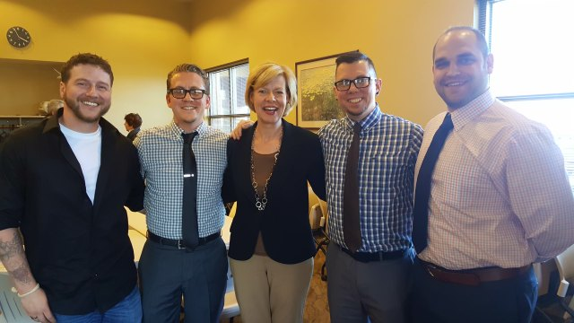 with the guys and Tammy Baldwin