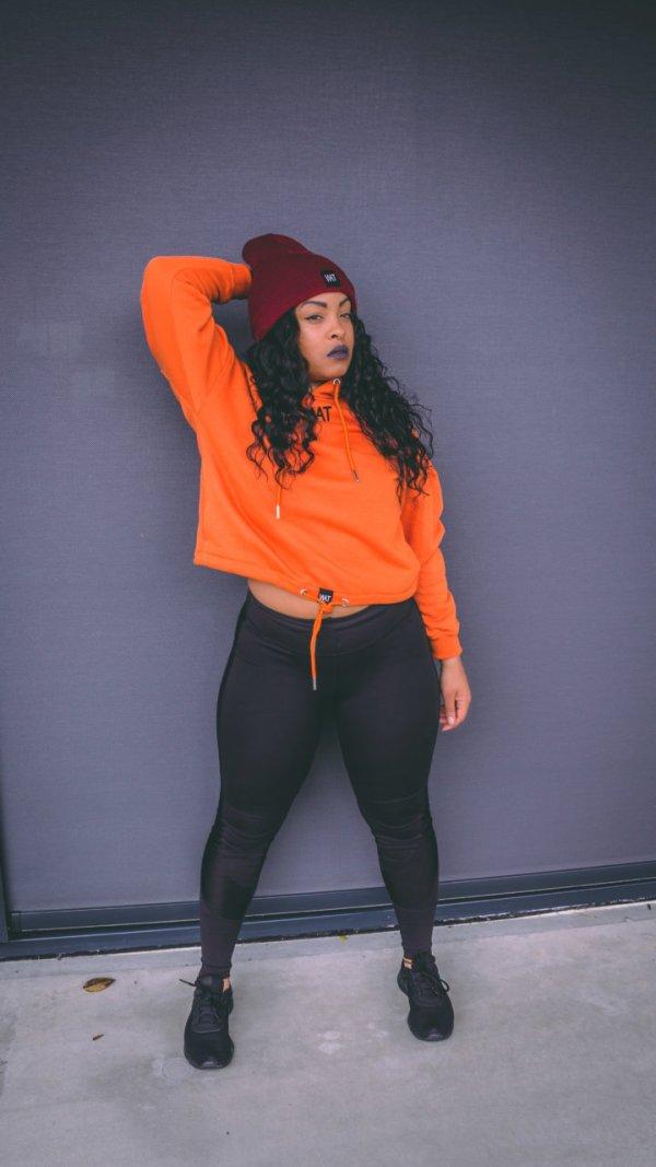 Women hoodie orange