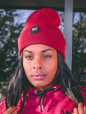 headwear beanie maroon we all that